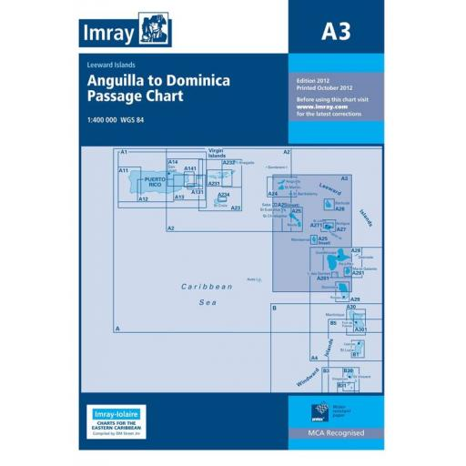 Imray A Series: A3 Anguilla to Dominica Passage Chart