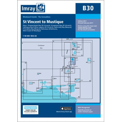 Imray B Series Charts: B30 Grenadines - North Sheet