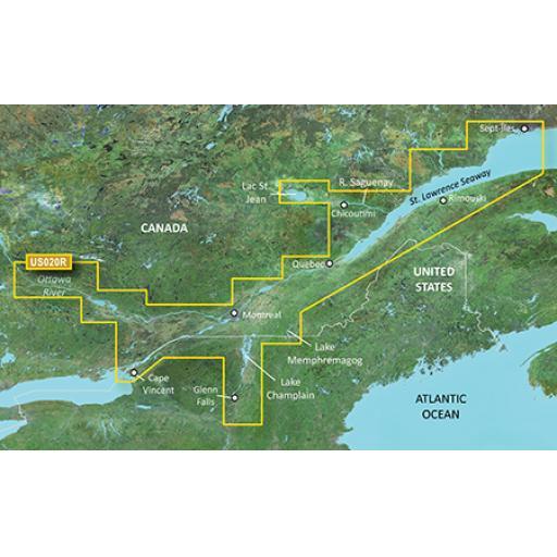 Garmin BlueChart g3 Vision VUS020R-St. Lawrence Seaway