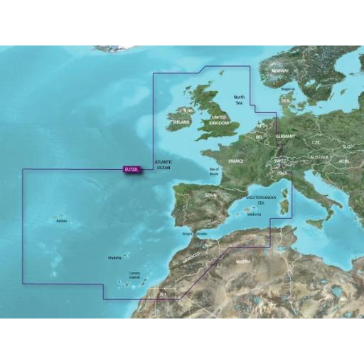 Garmin BlueChart g3 Vision VEU722L - Europe Atlantic Coast