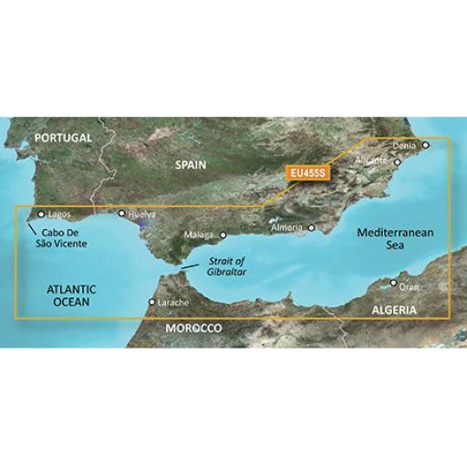 Garmin BlueChart g3 Vision VEU455S-Alicante to Cabo de Sao Vicente