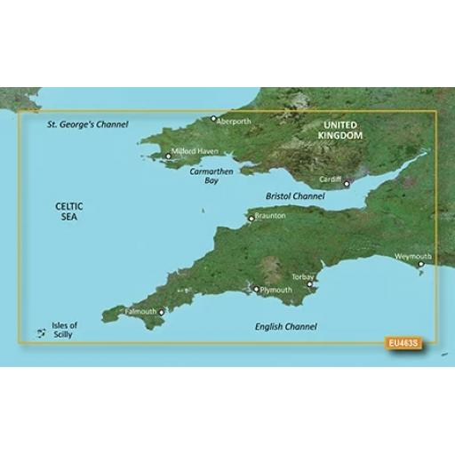 Garmin BlueChart g3 Vision VEU463S-Bristol Channel and England S/W