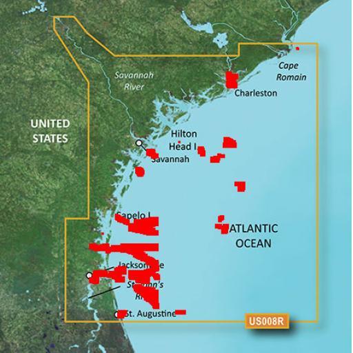 Garmin BlueChart g3 Vision VUS008R-Charleston to Jacksonville