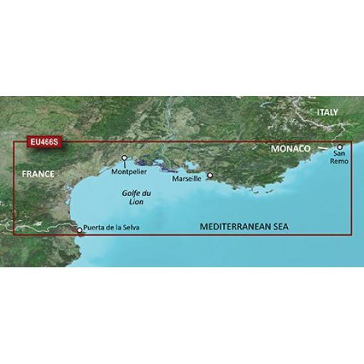 Garmin BlueChart g3 Vision VEU466S-Golfe Du Lion to San Remo