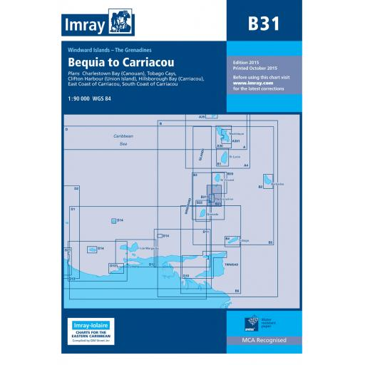 Imray B Series Charts: B31 Grenadines - Middle Sheet