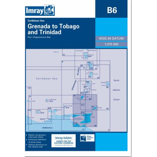 Imray B Series Charts: B6 Grenada to Tobago and Trinidad Passage Chart