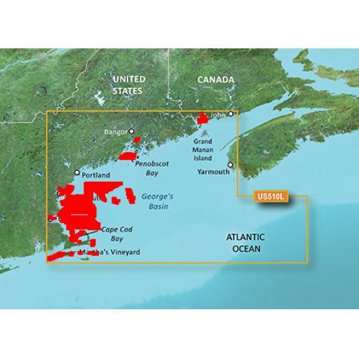 Garmin BlueChart g3 Vision VUS510L-St.John-Cape Cod