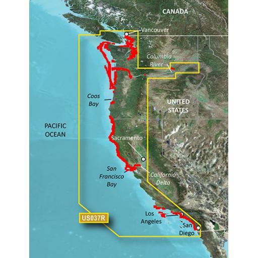 Garmin BlueChart g3 Vision VUS037R-Vancouver-San Diego
