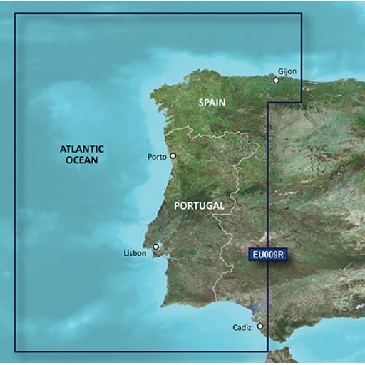 Garmin BlueChart g3 / g3 Vision VEU009R-Portugal & Northwest Spain