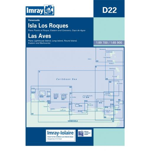 Imray D Series Charts: D22 Isla los Roques and Isla de Aves