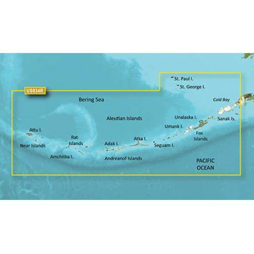 Garmin BlueChart g3 Vision VUS034R-Aleutian Islands