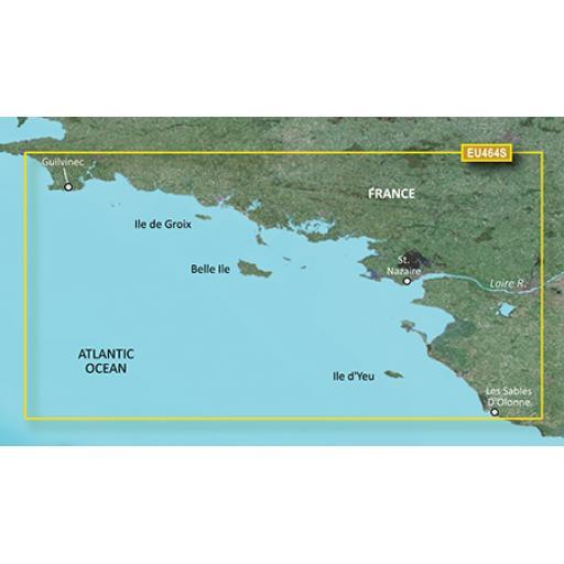 Garmin BlueChart g3 Vision VEU464S-Penmarch to Les Sables d'Olonne