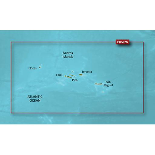 Garmin BlueChart g3 Vision VEU502S-Azores Islands