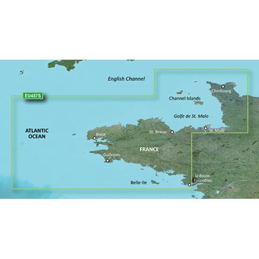 Garmin BlueChart g3 Vision VEU457S-Bretagne