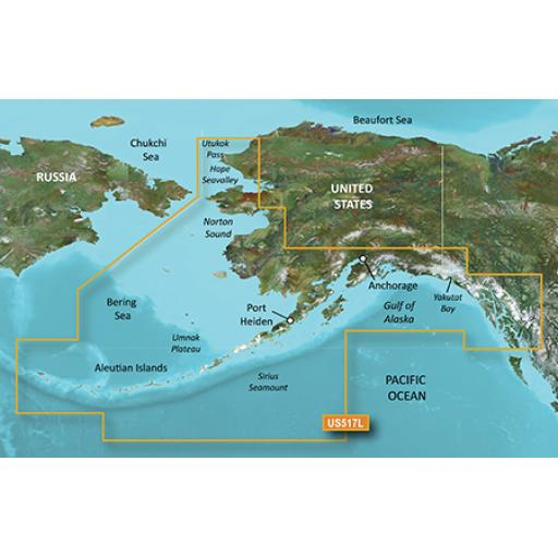 Garmin BlueChart g3 Vision VUS517L-Alaska South
