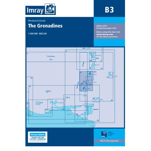 Imray B Series Charts: B3 The Grenadines