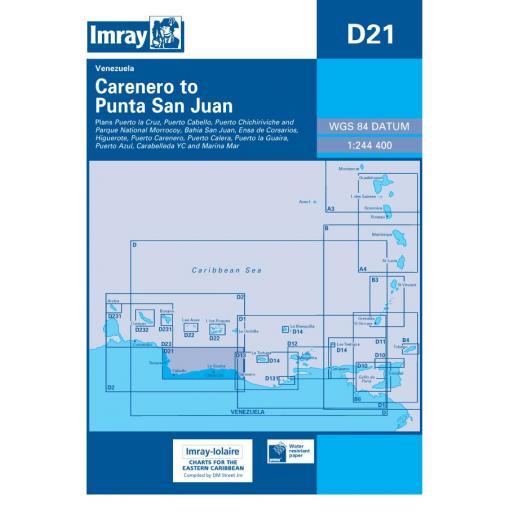 Imray D Series Charts: D21 Carenero to Punta San Jan