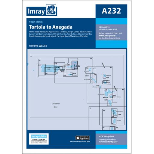 Imray A Series: A232 Virgin Islands Tortola to Anegada