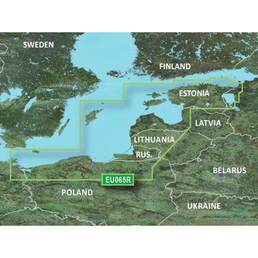 Garmin BlueChart g3 / g3 Vision VEU065R-Baltic Sea, East Coast