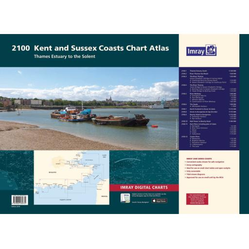 Imray 2000 Series: 2100 Kent and Sussex Coasts Chart Atlas Pack