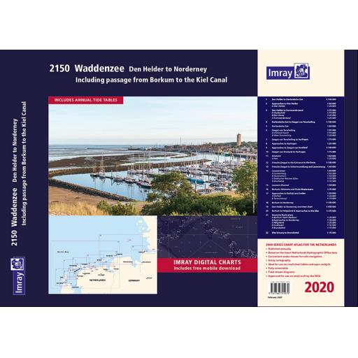 Imray 2000 Series: 2150 Waddenzee - Den Helder to Norderney Chart Atlas 2020