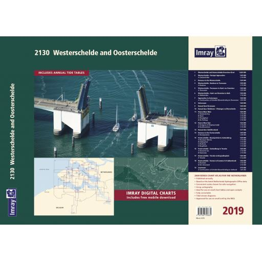 Imray 2000 Series: 2130 Westerschelde and Oosterschelde Chart Atlas 2019